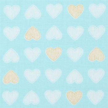 Heart of Gold metallic Cotton fabric - Michael Miller