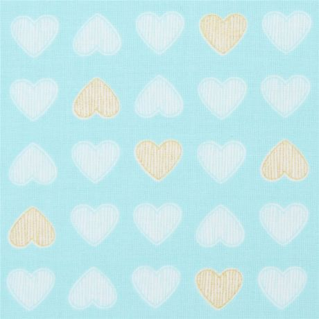 Heart of Gold metallic Cotton fabric - Michael Miller