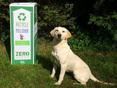Eira with TP Feeds' recycling box