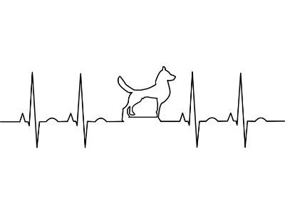 ECG with dog silhouette