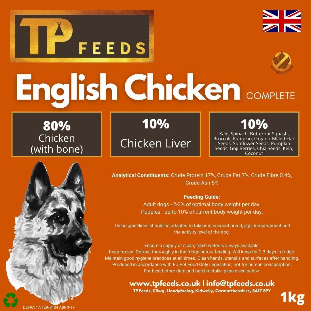 English Chicken Complete Raw Dog Food