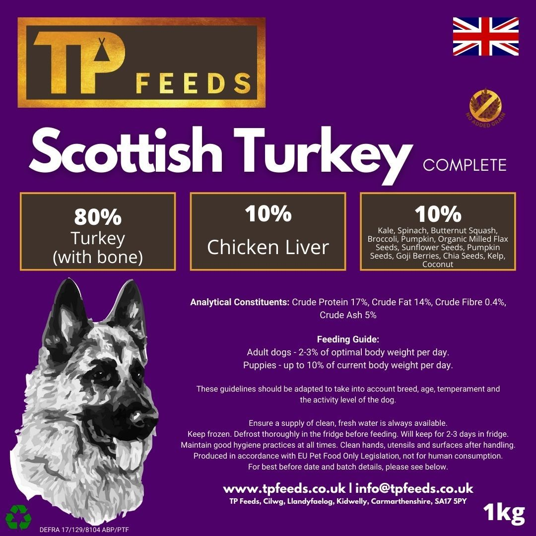 Scottish Turkey Complete Mince for Dogs