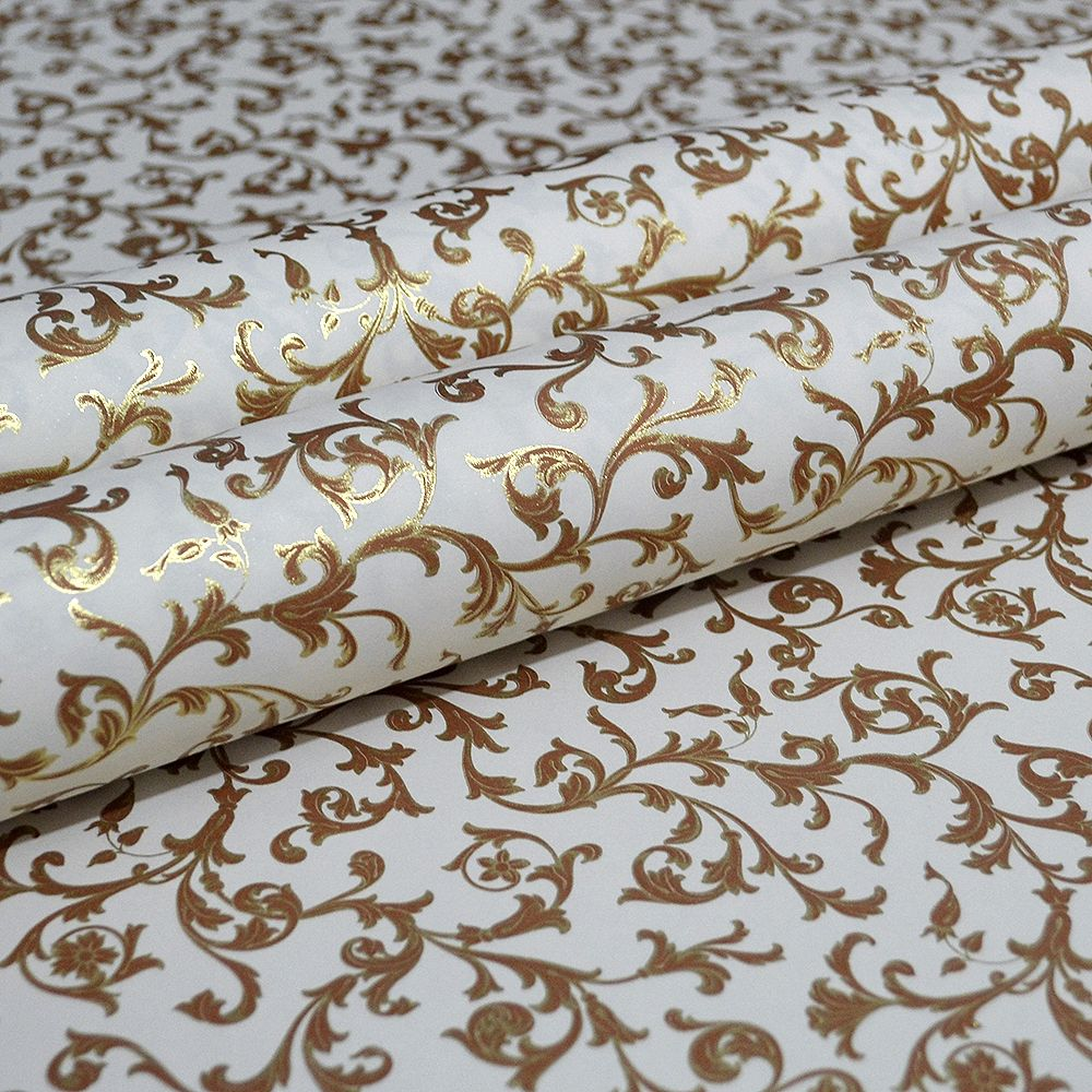 Russet and Gold Scrolls