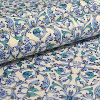 Blue Florentine Pattern