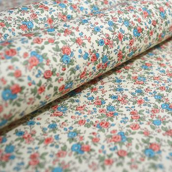 Red and Blue Ditsy Floral