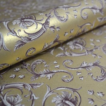 Gold Baroque Flowers