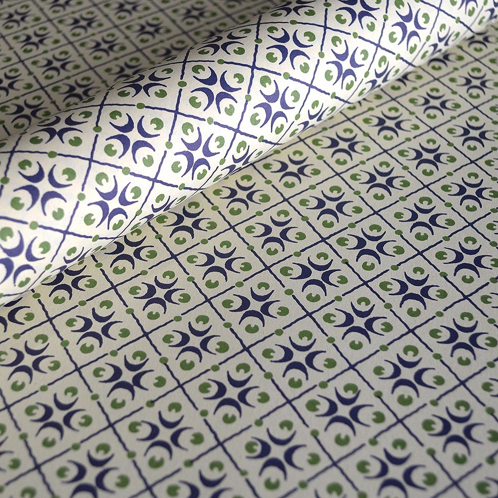 Blue and Green Motif