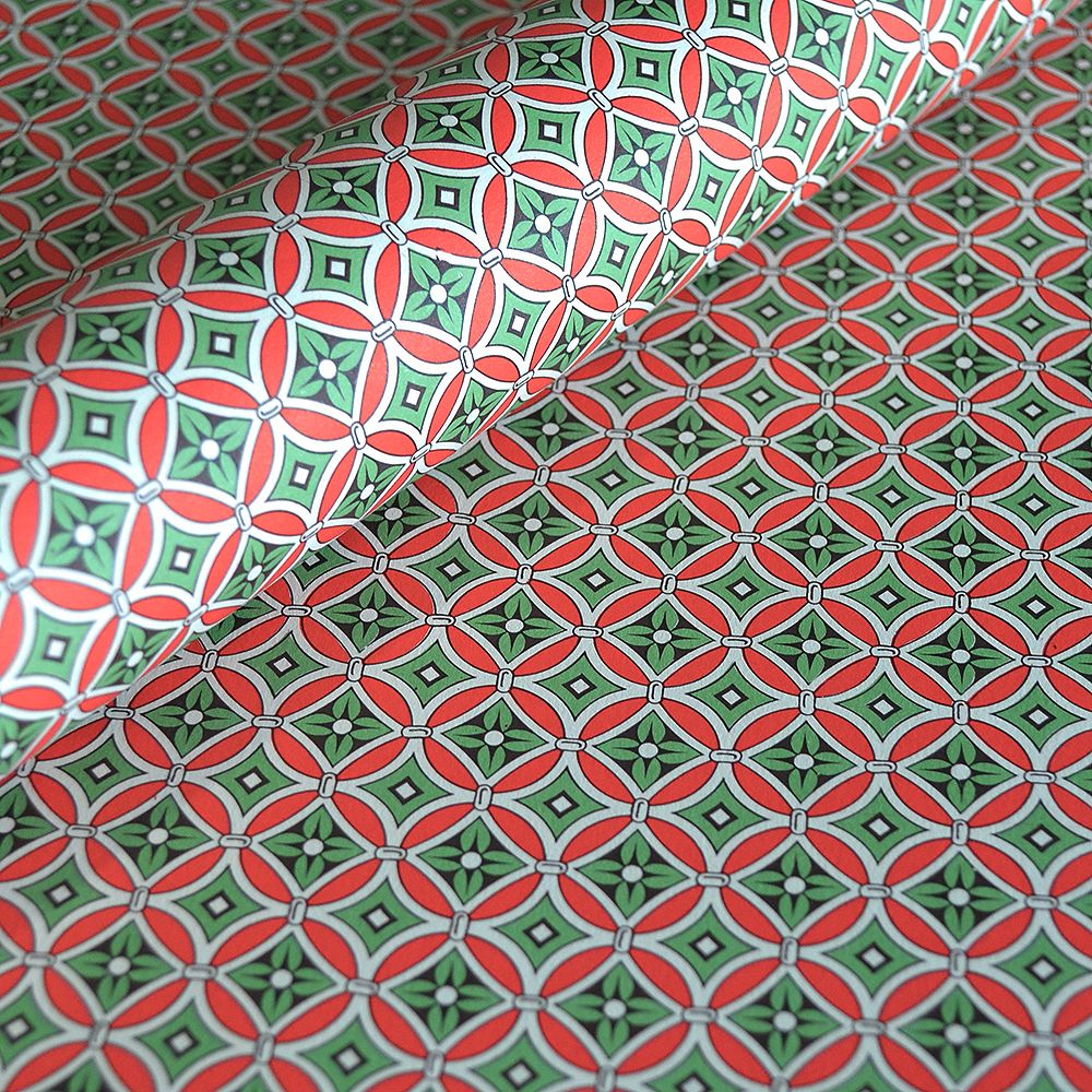 Cerise and Green Geometrical