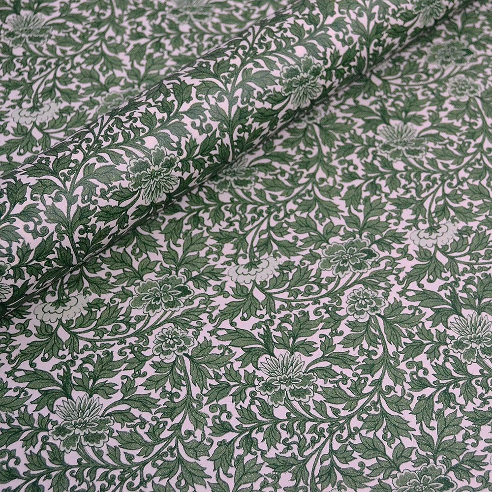 William Morris Style Green Floral