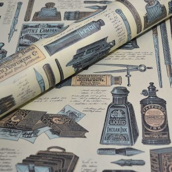 Vintage Style Pen and Ink Design - Italian Decorative Paper