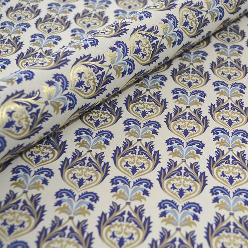 Brocade Blue and Gold