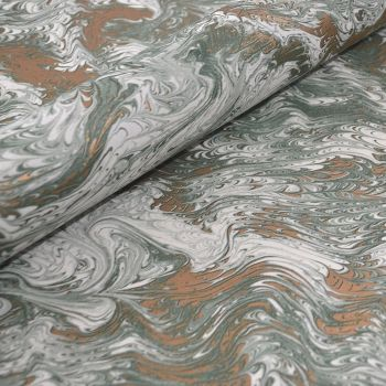 Green and Gold Marble