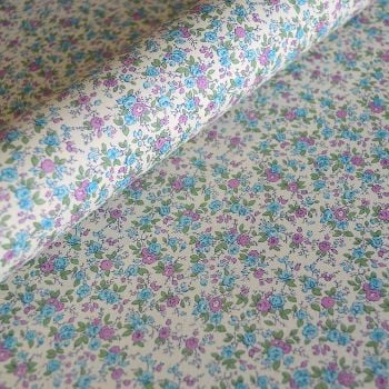 Lilac and Blue Ditsy Floral