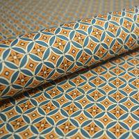 Teal & Mustard Geometric