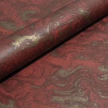 Red and Gold Marble
