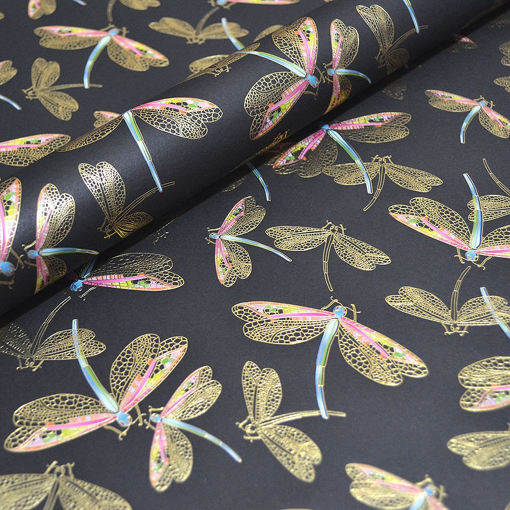 Gold Dragonflies Paper