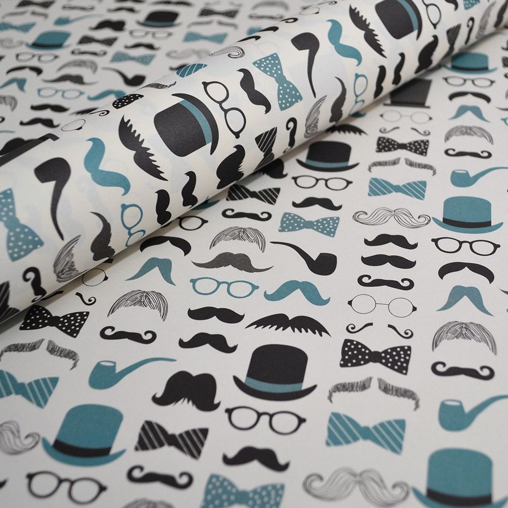 Moustache Wrapping Paper