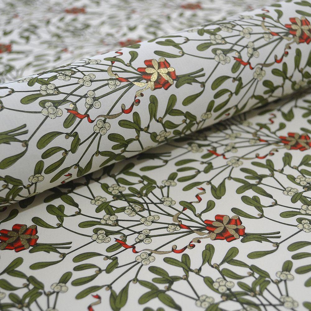 Mistletoe Italian Gift Wrap Paper