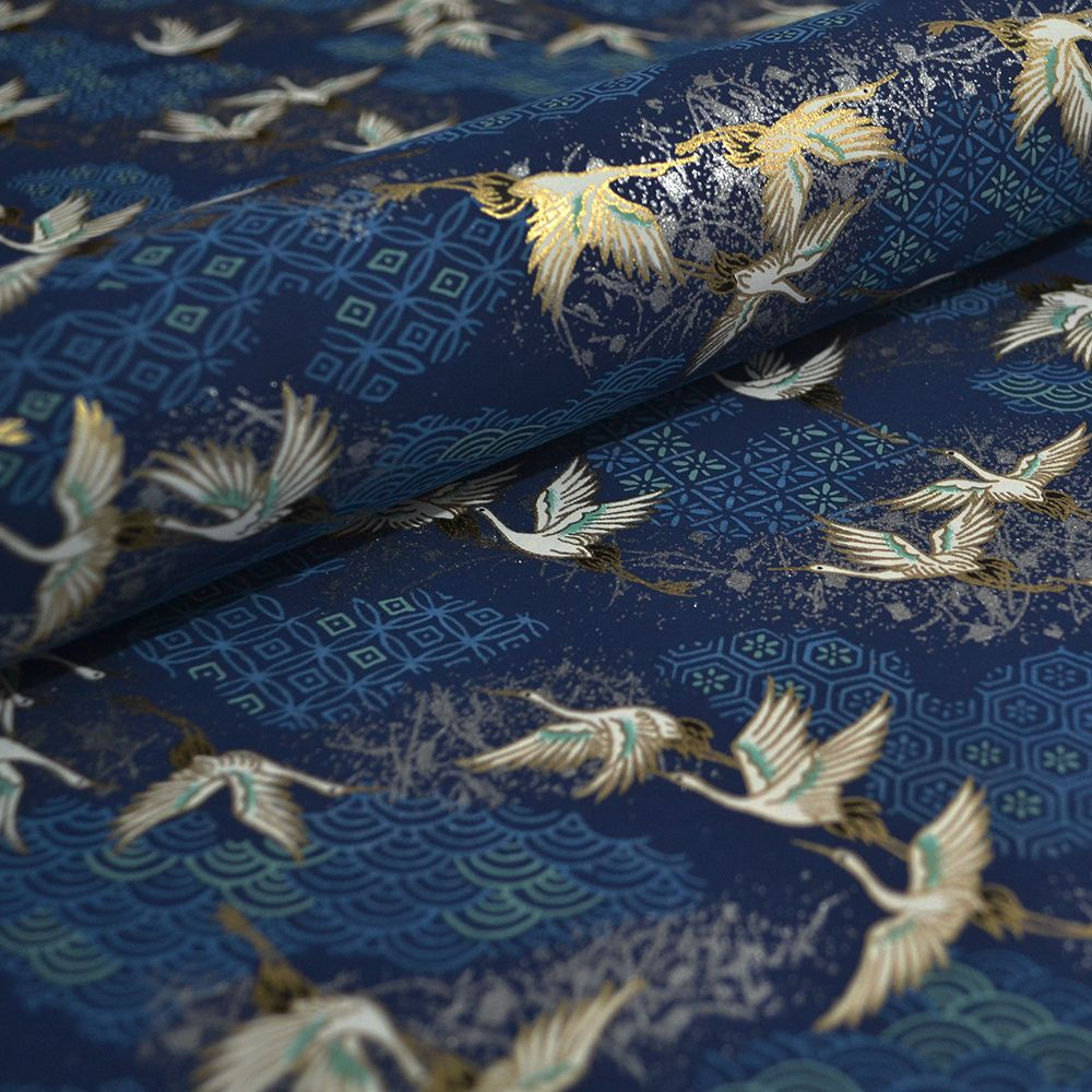 Blue Cranes Chiyogami Paper