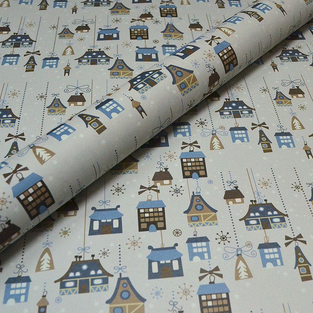 Blue Winter Houses