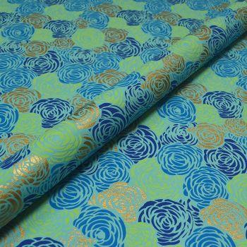 Rambling Roses Turquoise