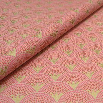 Mosaic Pink and Gold