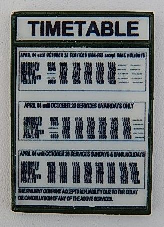 PW16 - Timetable Board
