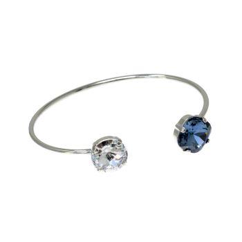 Blue & Diamond Crystal Bangle