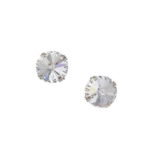 Large Rivoli Crystal Diamond Stud Earrings