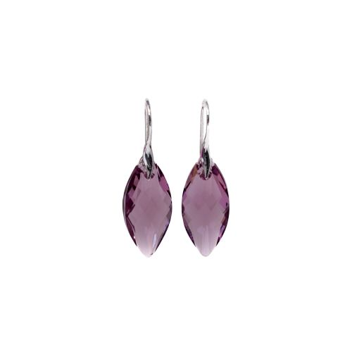Sterling Silver & Amethyst Drop Earrings