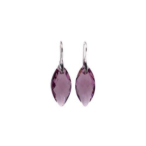 Sterling Silver & Amethyst Drop Earrings