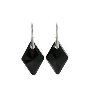 Sterling Silver Black Deco Crystal Earrings