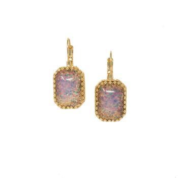 Fire Opal Crown Earrings