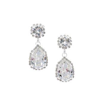 Pear Crystal Drop Earrings - Large