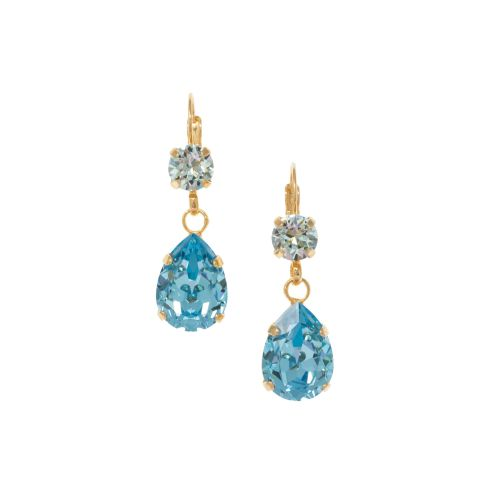 Aquamarine and Light Azore Drop Earrings
