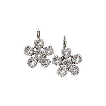 Crystal Flower Earrings
