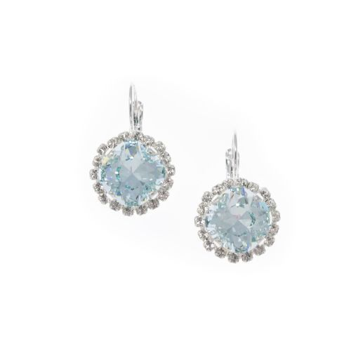 Light Azore Cushion Crystal Earrings