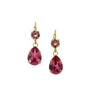 Rose Pink Drop Earrings
