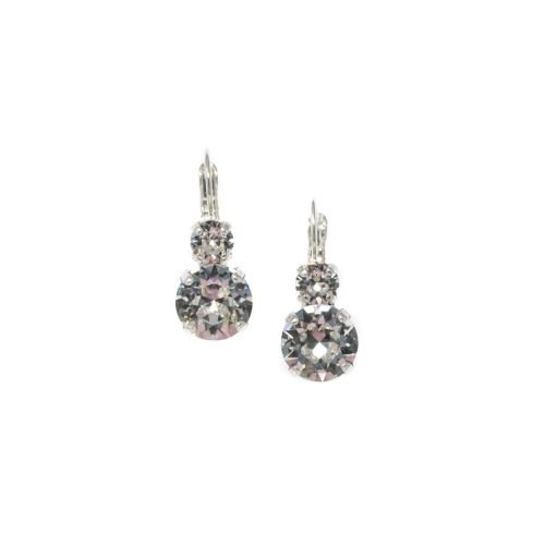 Round Double Crystal Earrings