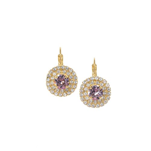 Light Amethyst Crystal Earrings