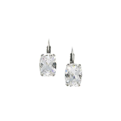 Crystal Clear Cushion Earrings
