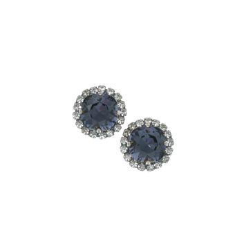 Graphite Crystal Stud Earrings