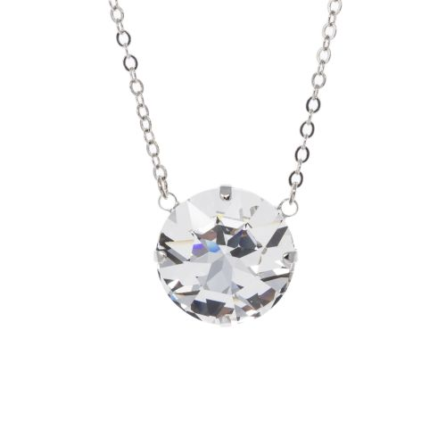 Large Round Crystal Diamond Pendant