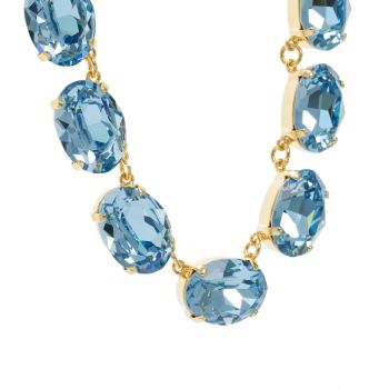 Aquamarine Crystal Collet Necklace