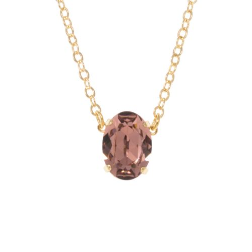 Blush Rose Oval Pendant