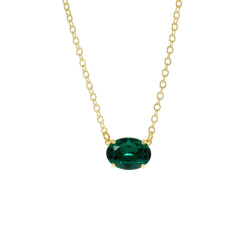 Emerald Green Oval Pendant