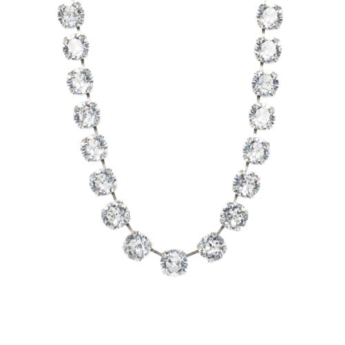 Large Crystal Diamond Clear Necklace