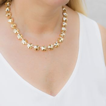 Golden champagne Rivoli necklace