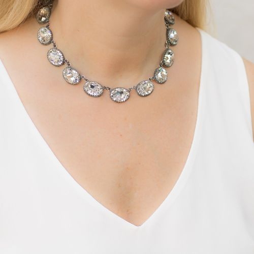 Crystal Crown Riviere Necklace