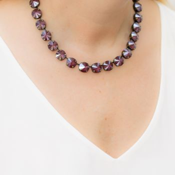 Dark Red Rivoli Choker